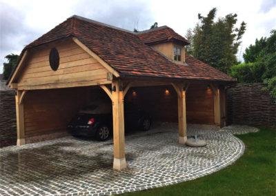 Eiken carport met dakkapel  (Ref. LG  EC02)
