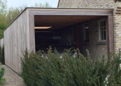 Padoek carport met tuinberging  (Ref. WTS MC02)