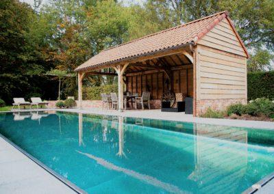 vanhauwood - eiken gebinte 1zwembad tuinhuis