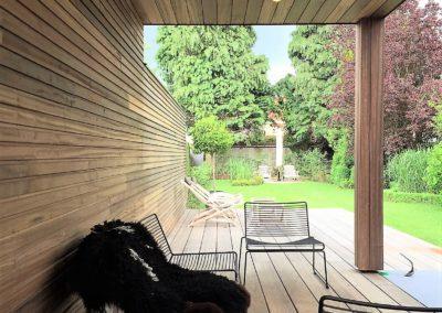 vanhauwood -fijne houten latjes terras