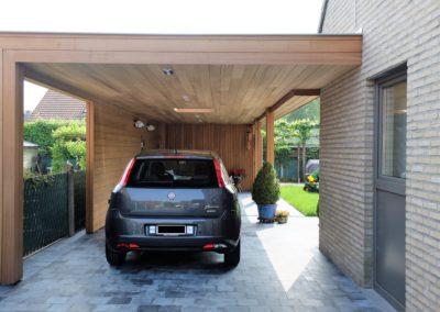 Moderne carport met loungeruimte en tuinberging (Ref. VG MC01)