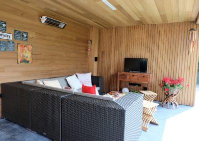 vanhauwood - modern bijgebouw carport 2 overdekte zitplaats