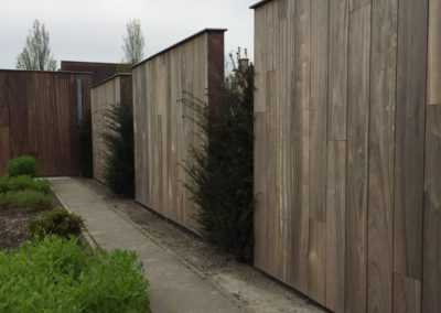 vanhauwood -padouk tuinwand