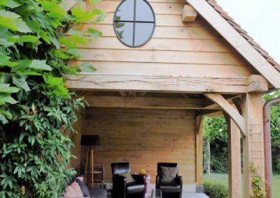 vanhauwood landelijk tuinhuis met overdekte zitplaats 2