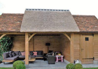 vanhauwood landelijk tuinhuis met overdekte zitplaats 3