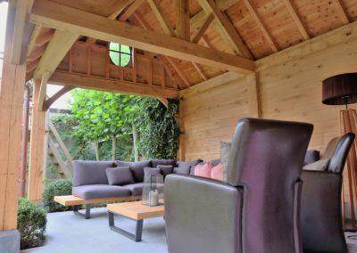 vanhauwood landelijk tuinhuis met overdekte zitplaats 4