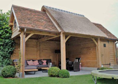 vanhauwood landelijk tuinhuis met overdekte zitplaats 5
