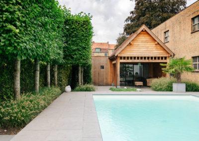 Poolhouse met overdekt terras (Ref. LMS)
