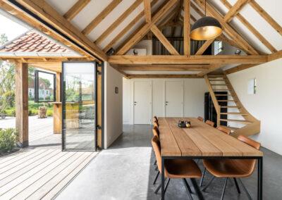 Vanhauwood_eiken poolhouse eetplaats modern