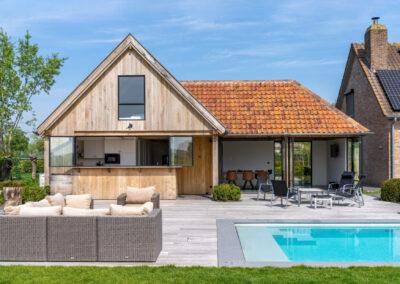 Vanhauwood_eiken poolhouse guesthouse en keukentje